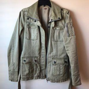 Halogen khaki green utility jacket size S